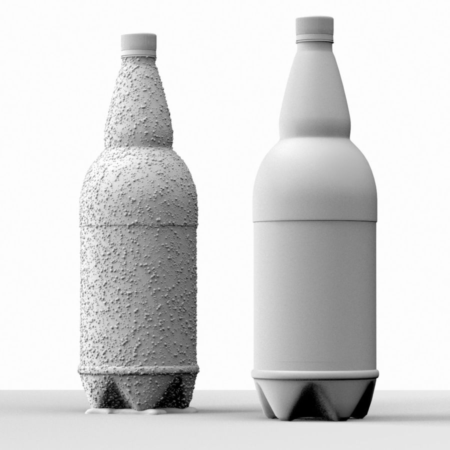 Brown Plastic Bottle - Cold Drink royalty-free 3d model - Preview no. 9