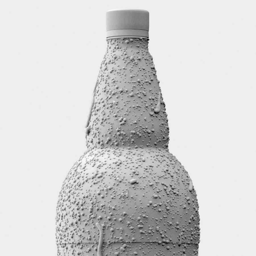 Brown Plastic Bottle - Cold Drink royalty-free 3d model - Preview no. 8