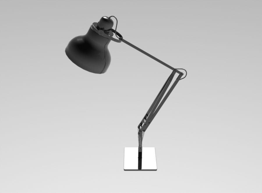 Skrivbordslampa royalty-free 3d model - Preview no. 4