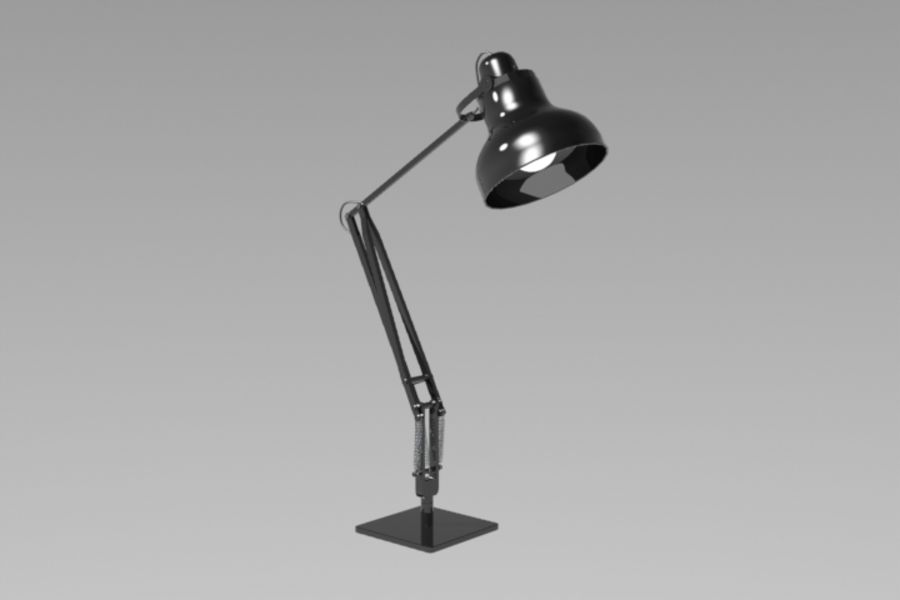 Skrivbordslampa royalty-free 3d model - Preview no. 2