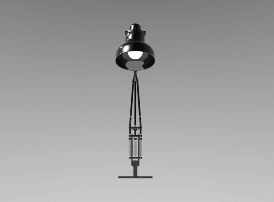 Skrivbordslampa royalty-free 3d model - Preview no. 3
