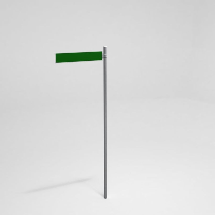 Street Sign Street Name 01 royalty-free 3d model - Preview no. 1