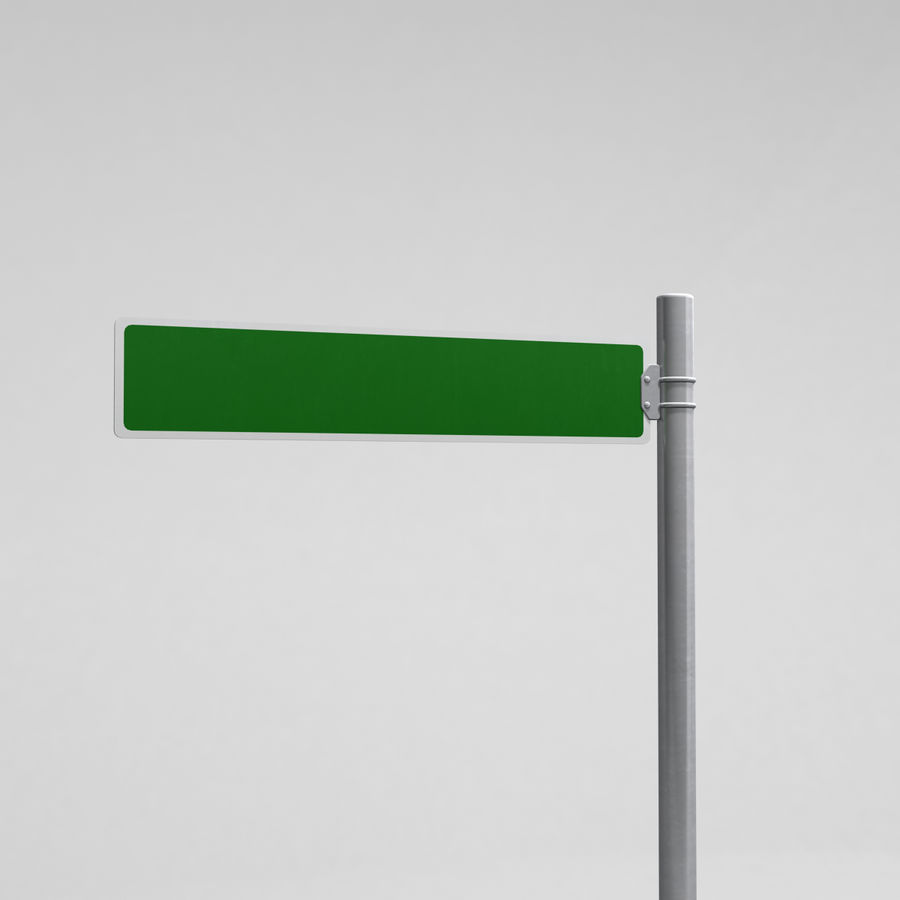 Street Sign Street Name 01 royalty-free 3d model - Preview no. 3