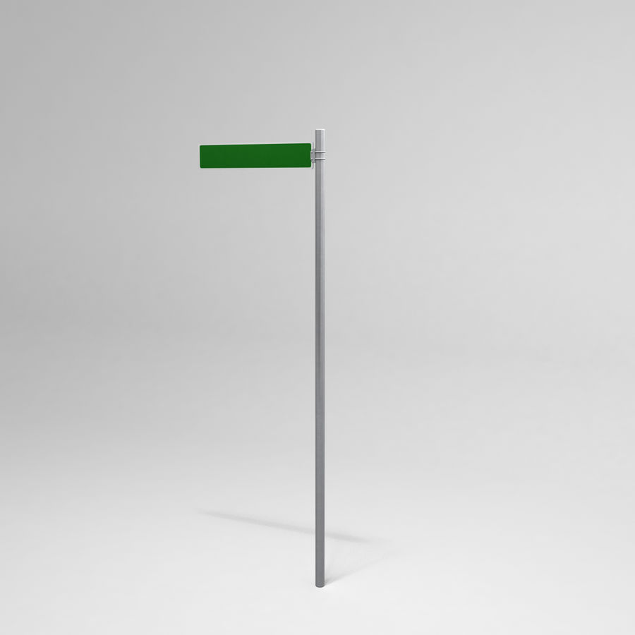Street Sign Street Name 01 royalty-free 3d model - Preview no. 2
