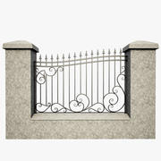 Wrought Iron Fence 1 3d model