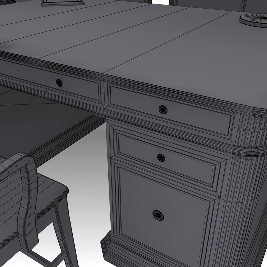 Executive möbel Set royalty-free 3d model - Preview no. 23