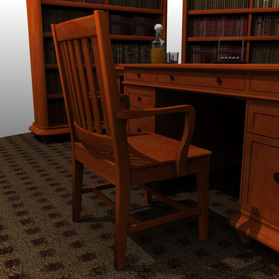 Executive möbel Set royalty-free 3d model - Preview no. 6