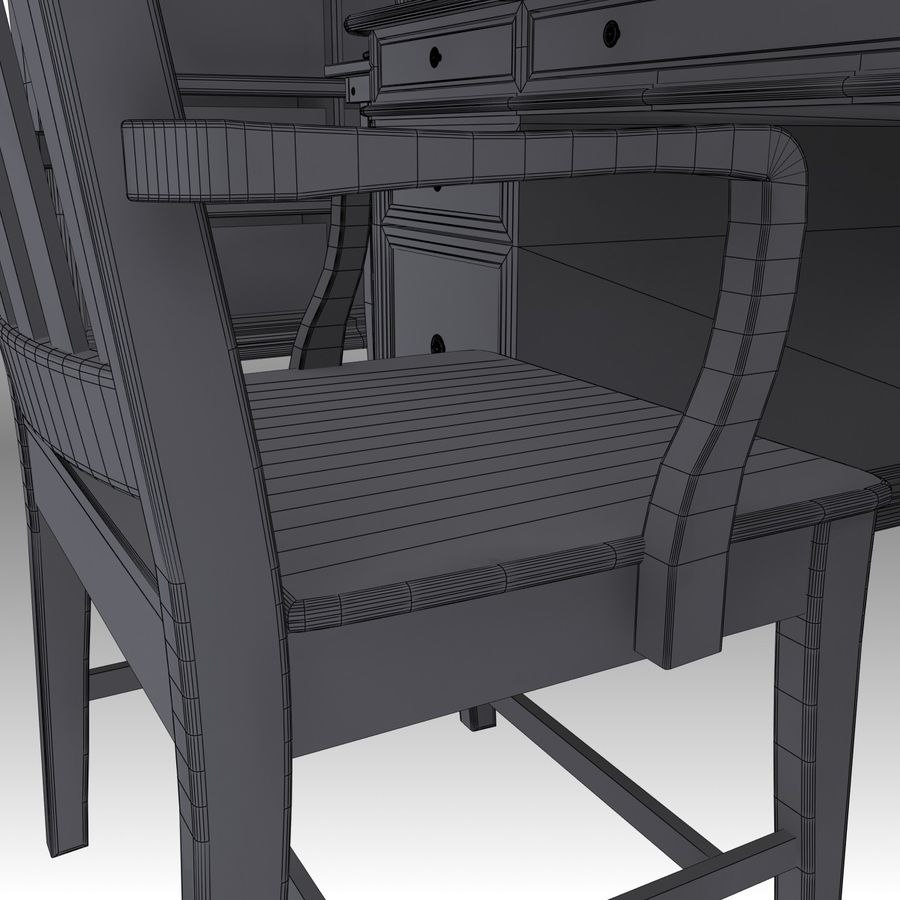 Executive möbel Set royalty-free 3d model - Preview no. 24