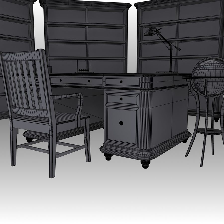 Executive möbel Set royalty-free 3d model - Preview no. 18