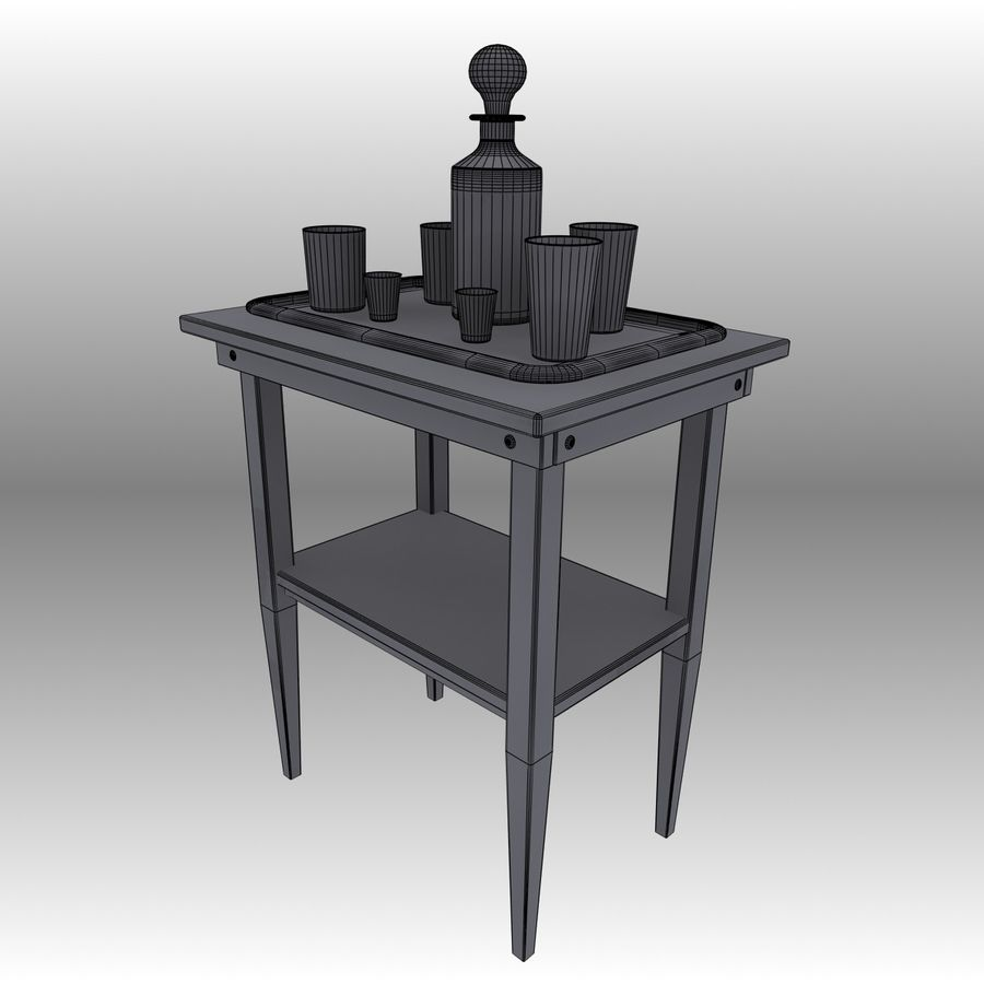 Executive möbel Set royalty-free 3d model - Preview no. 29