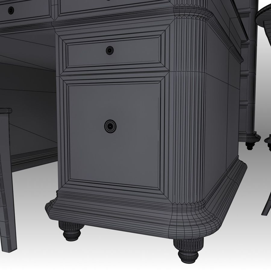 Executive möbel Set royalty-free 3d model - Preview no. 20