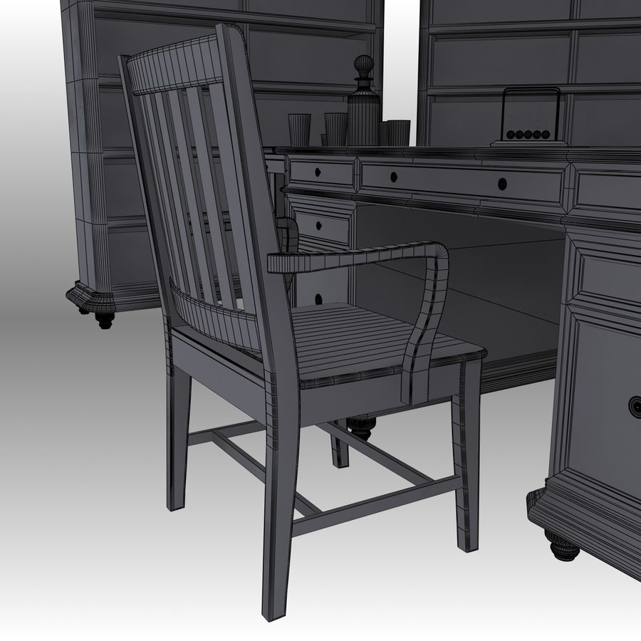 Executive möbel Set royalty-free 3d model - Preview no. 22