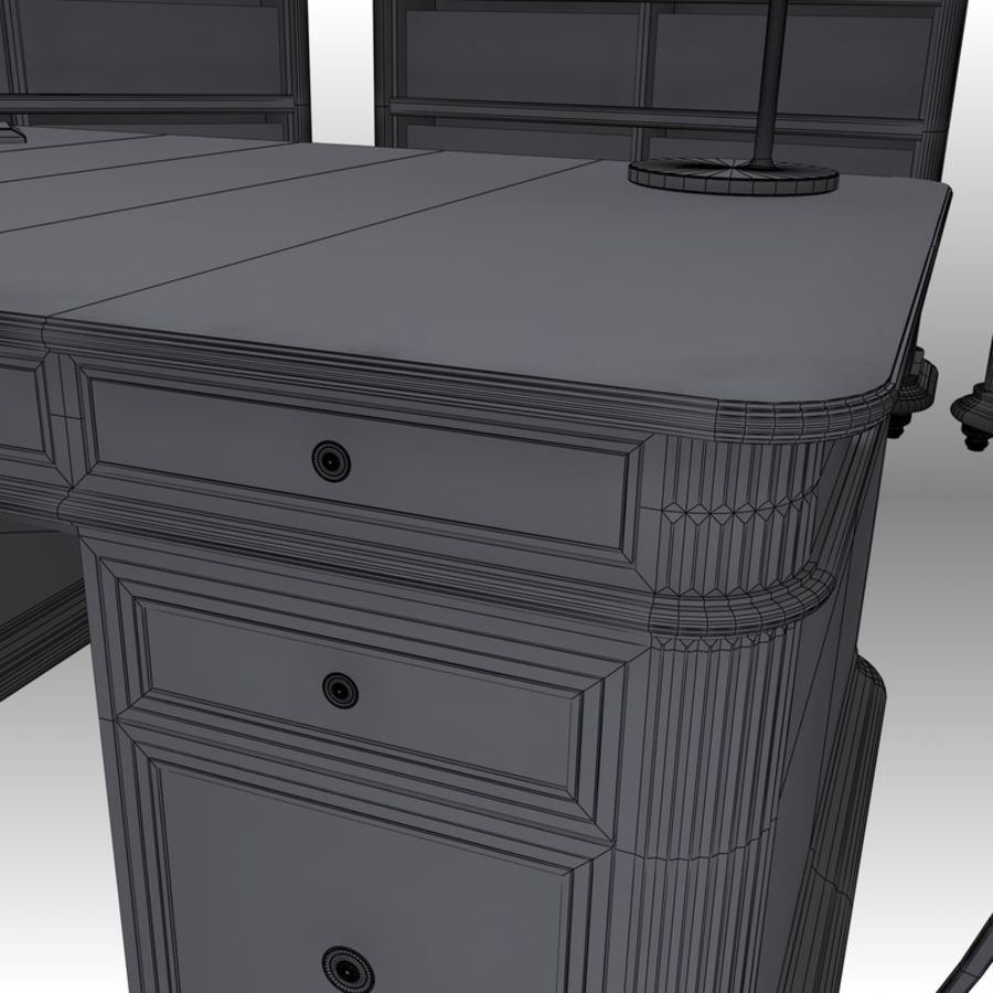 Executive möbel Set royalty-free 3d model - Preview no. 19