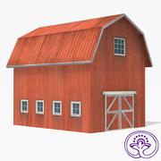 Wooden barn A 3d model