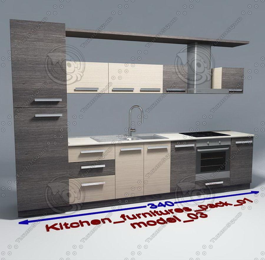 Mobili da cucina con accessori modello 03 Modello 3D $8 ...