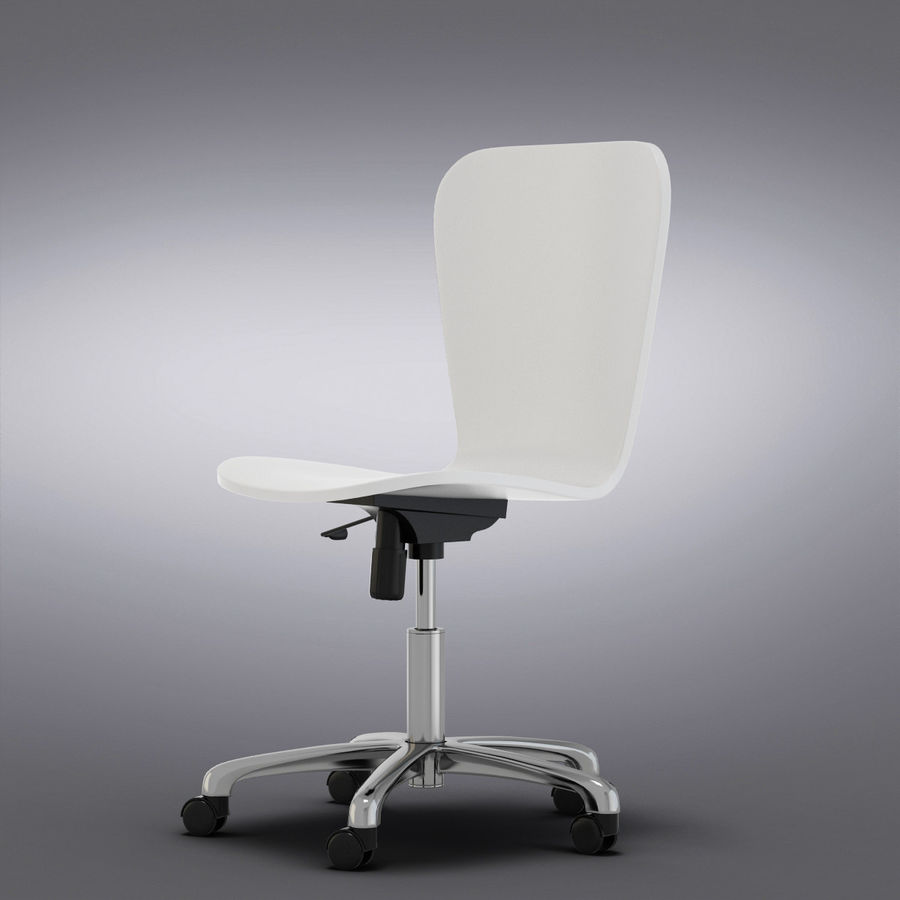 Crate And Barrel Felix White Office Chair 3d Model 24 Max Obj