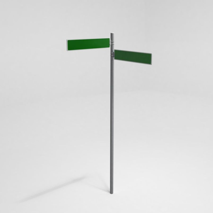 Street Sign Street Name 02 royalty-free 3d model - Preview no. 1
