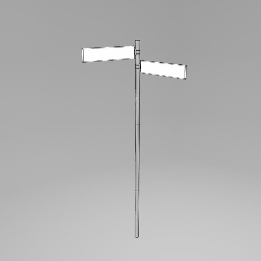 Street Sign Street Name 02 royalty-free 3d model - Preview no. 4