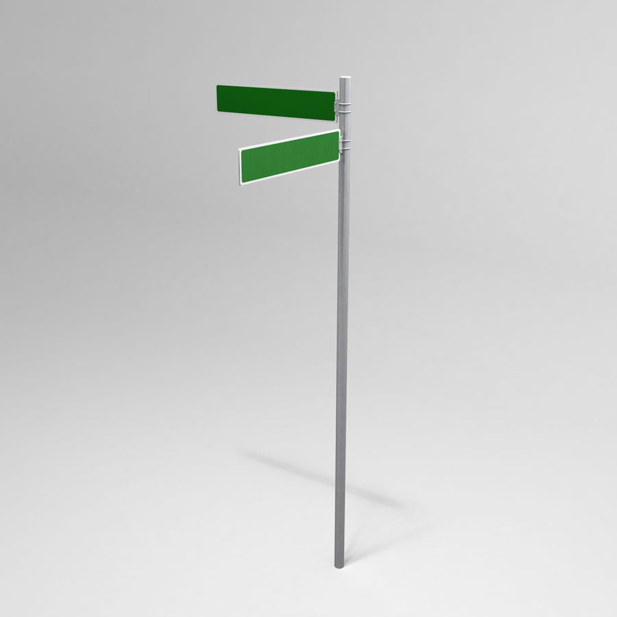 Street Sign Street Name 02 royalty-free 3d model - Preview no. 2
