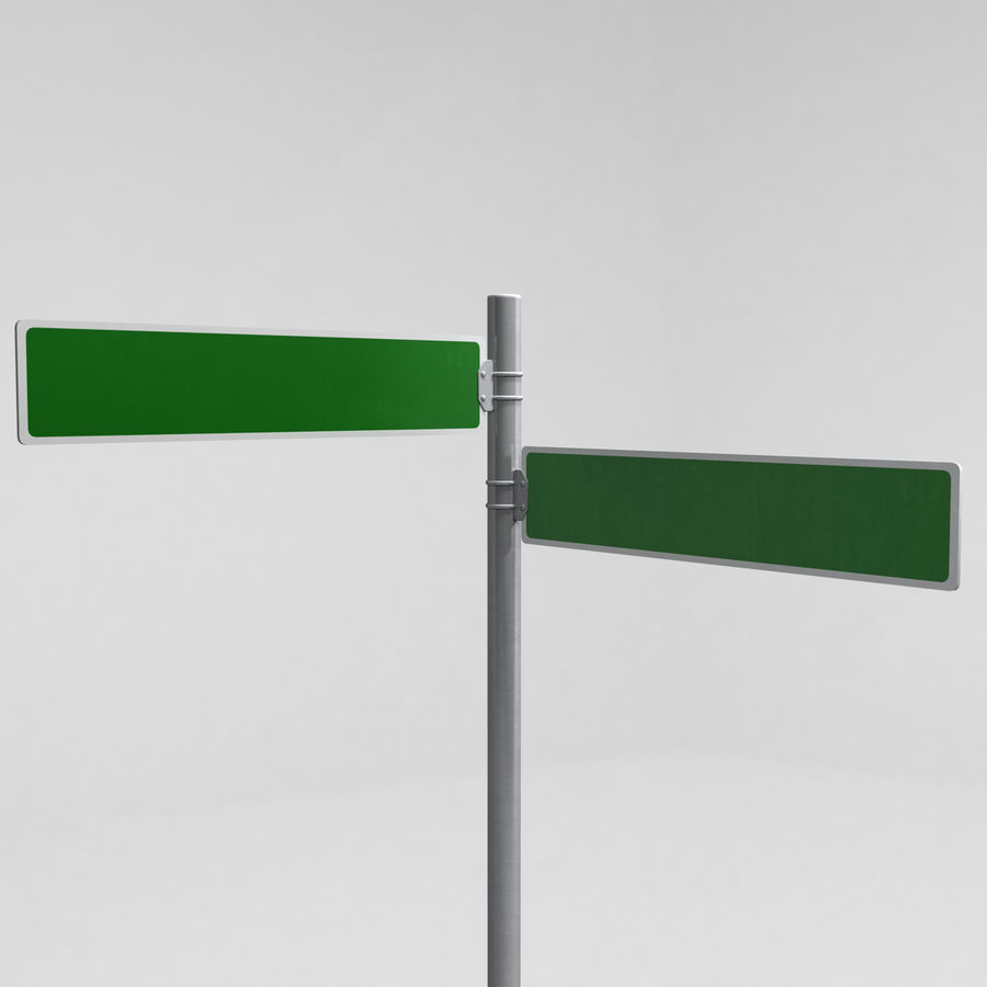 Street Sign Street Name 02 royalty-free 3d model - Preview no. 3