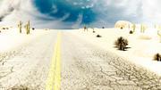 Пустынная дорога 3d model