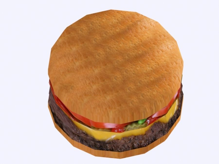 Hamburger royalty-free 3d model - Preview no. 2
