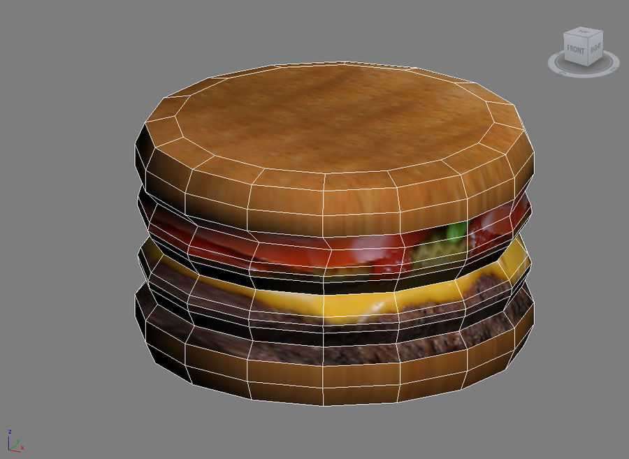 Hamburger royalty-free 3d model - Preview no. 3
