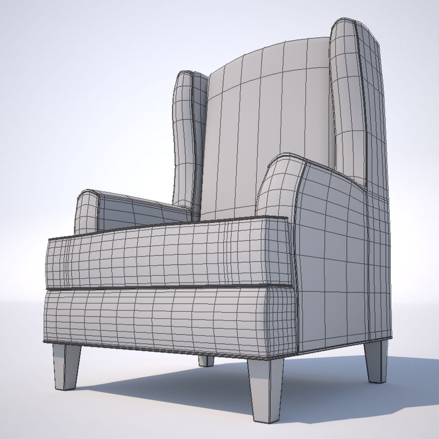 Fåtölj royalty-free 3d model - Preview no. 2