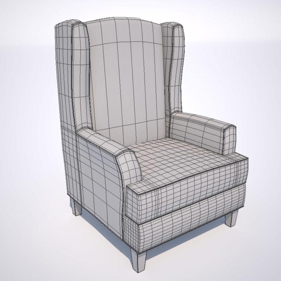Fåtölj royalty-free 3d model - Preview no. 4