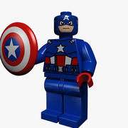 captain america lego 3d model