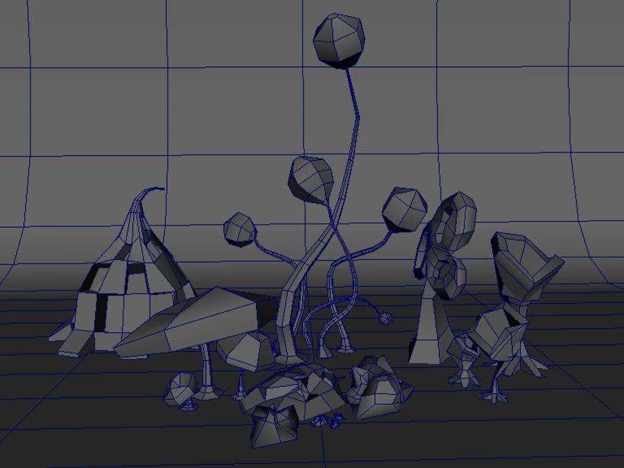Alien plants I royalty-free 3d model - Preview no. 5