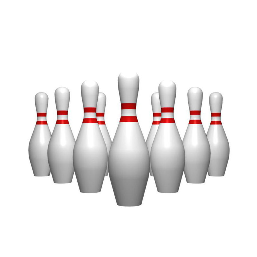 Bowling Pins royalty-free 3d model - Preview no. 1