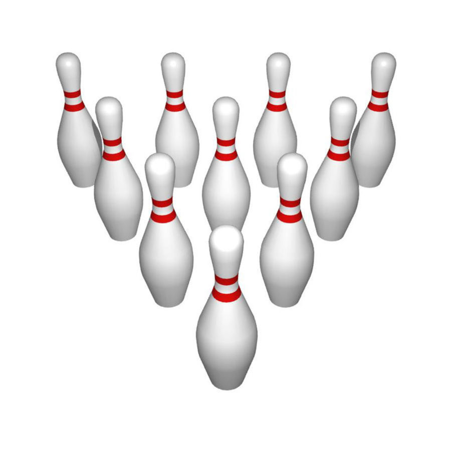 Bowling Pins royalty-free 3d model - Preview no. 2