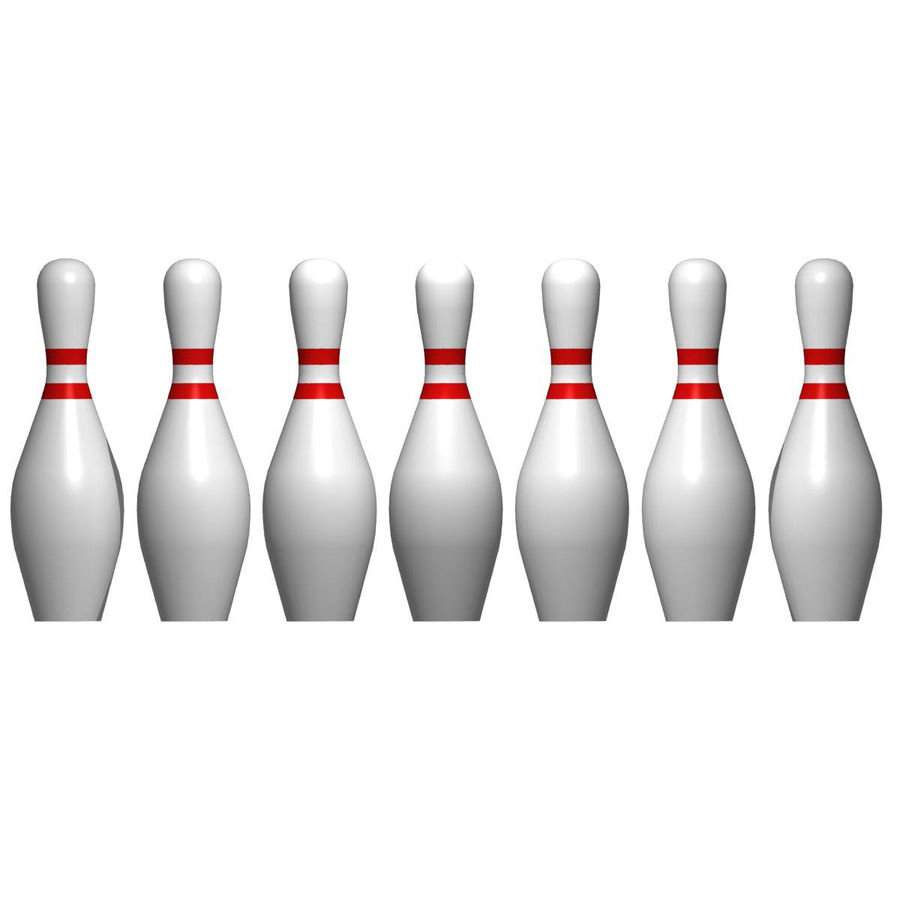 Bowling Pins royalty-free 3d model - Preview no. 3