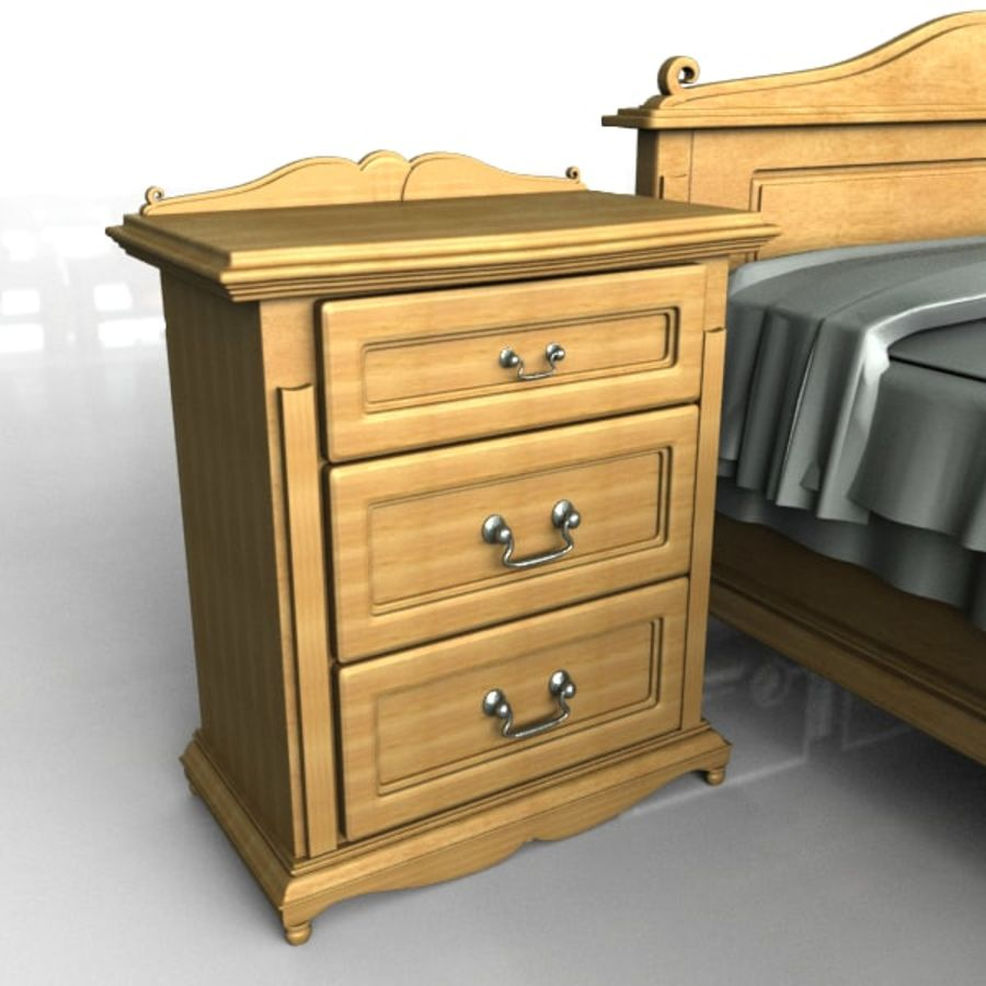 Bedroom Set royalty-free 3d model - Preview no. 5
