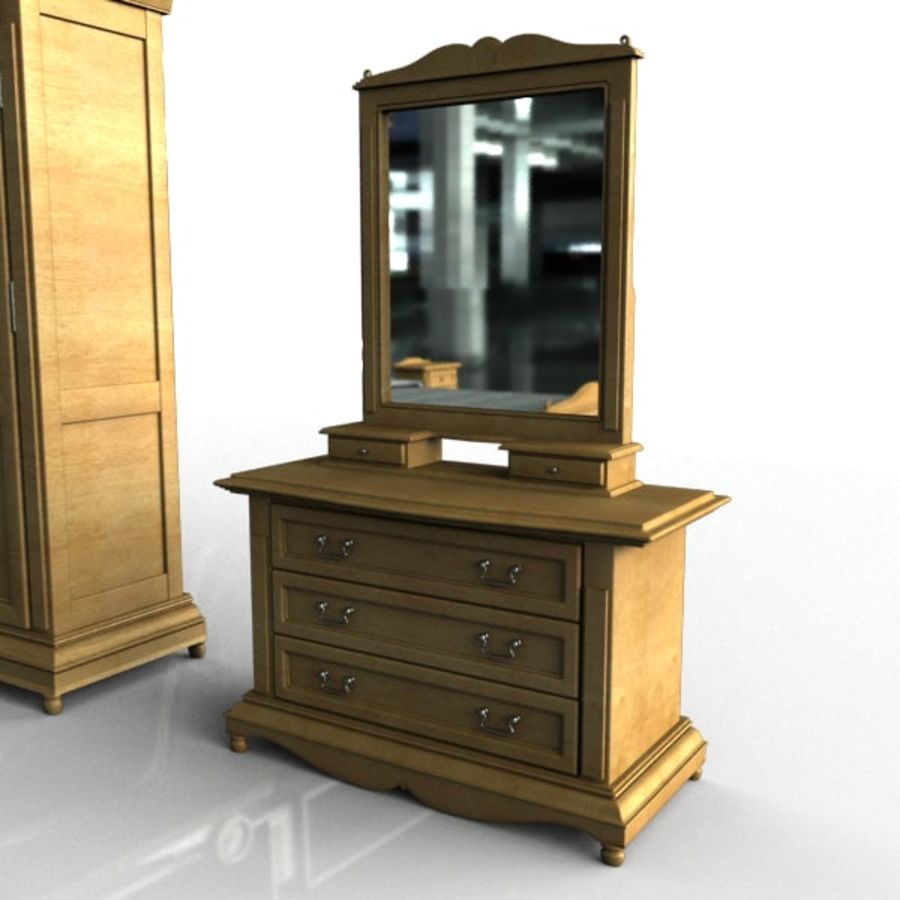 Bedroom Set royalty-free 3d model - Preview no. 2