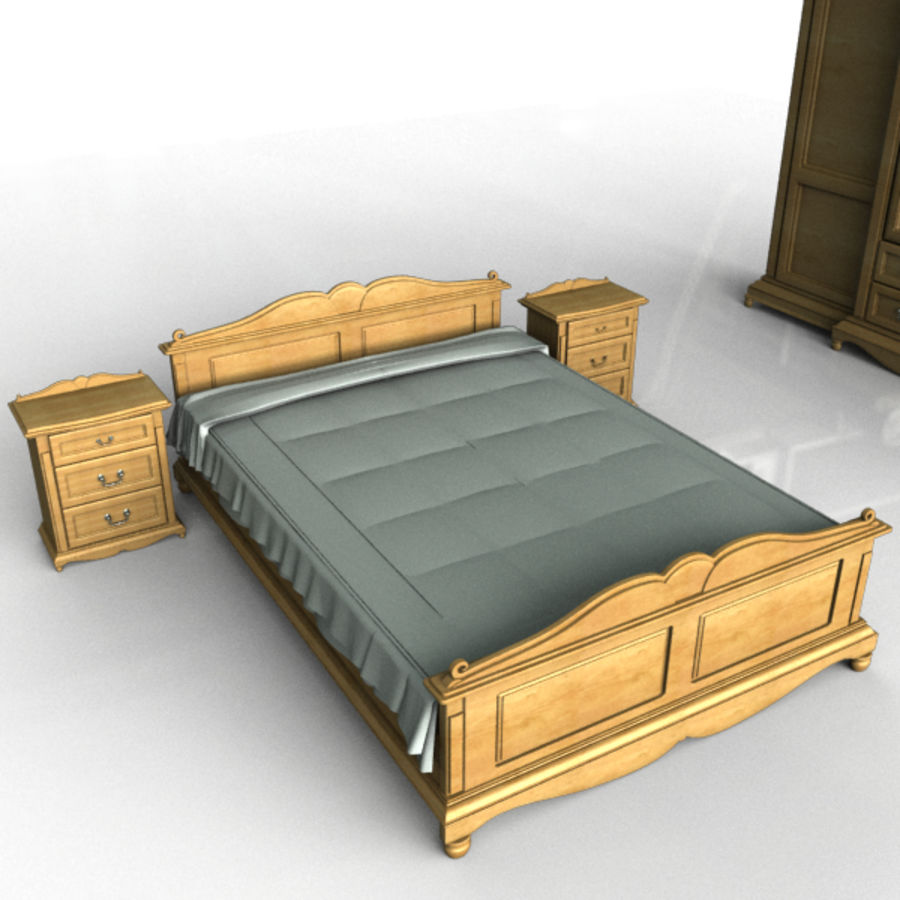 Bedroom Set royalty-free 3d model - Preview no. 4