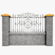 Wrought Iron Fence  5 3d model