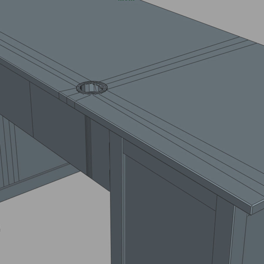Desk IKEA royalty-free 3d model - Preview no. 15