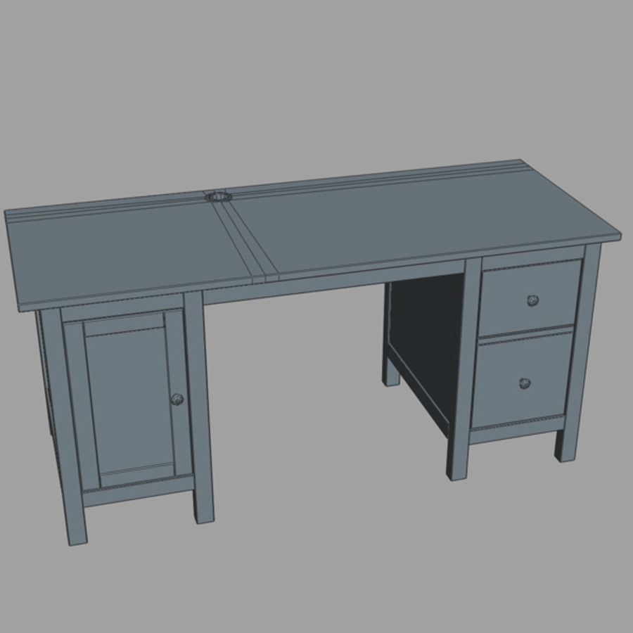 Desk IKEA royalty-free 3d model - Preview no. 12