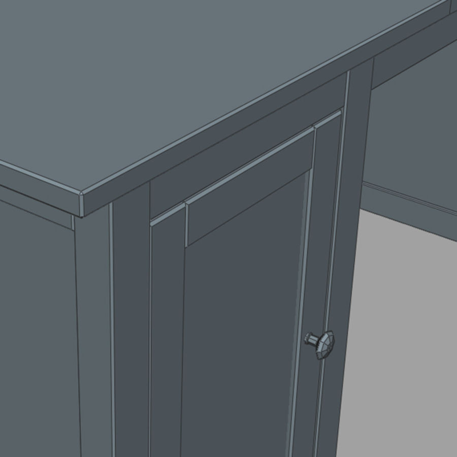 Desk IKEA royalty-free 3d model - Preview no. 13