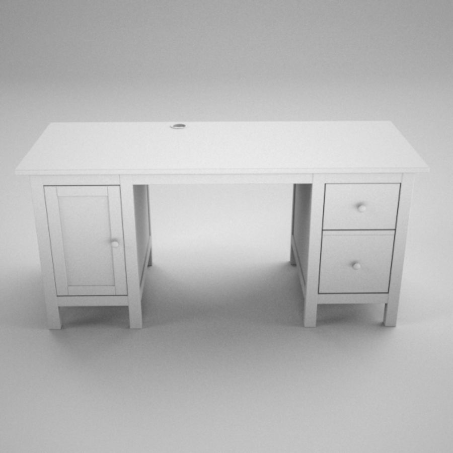 Desk IKEA royalty-free 3d model - Preview no. 10