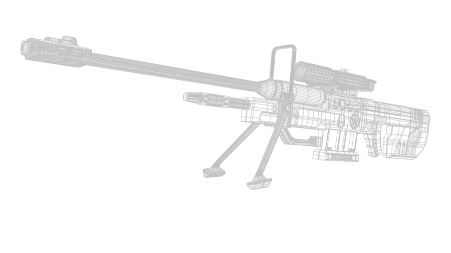 Sniper Rifle royalty-free 3d model - Preview no. 5