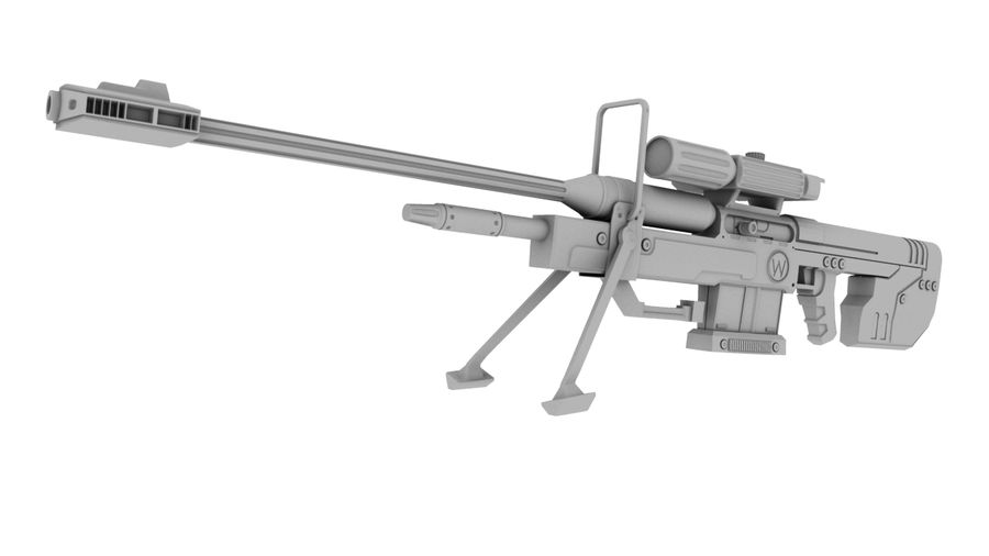 Sniper Rifle royalty-free 3d model - Preview no. 3