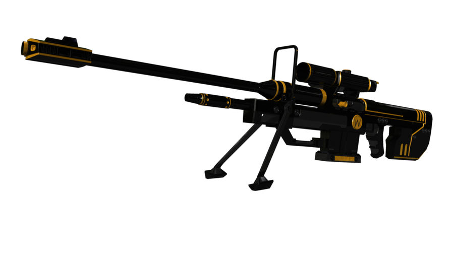Sniper Rifle royalty-free 3d model - Preview no. 4