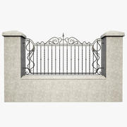 Wrought Iron Fence  2 3d model
