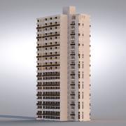 Bâtiment de fond 001 3d model