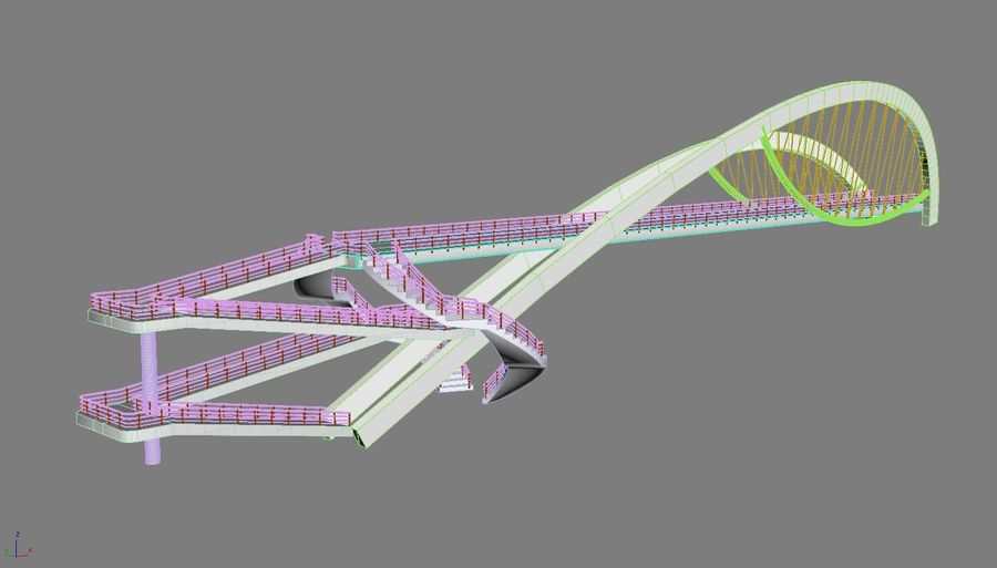 Bridge royalty-free 3d model - Preview no. 7