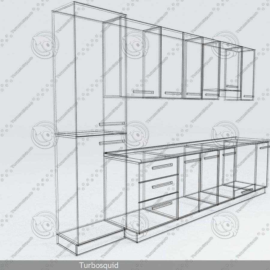 厨房家具与配件模型02 royalty-free 3d model - Preview no. 5