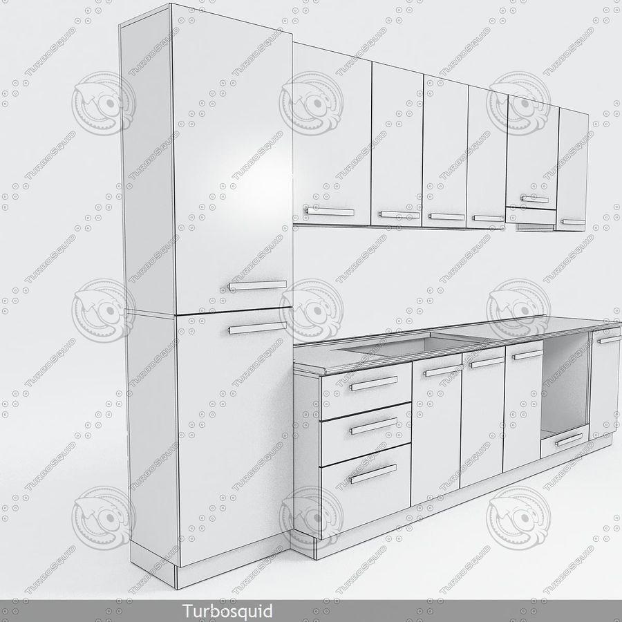 厨房家具与配件模型02 royalty-free 3d model - Preview no. 4